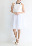 TC Iris Tulle Midi Skirt (White) - XS / S / M - TUESDAY C.