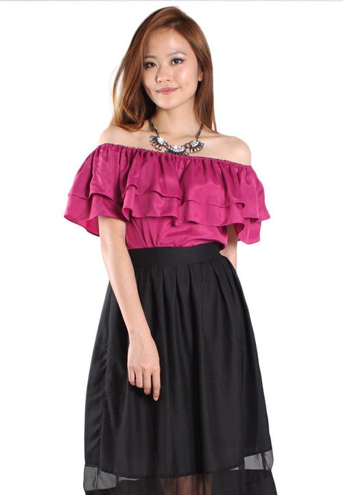 (50% OFF) TC VELICE 2-Ways Top (Magenta) - TUESDAY C.