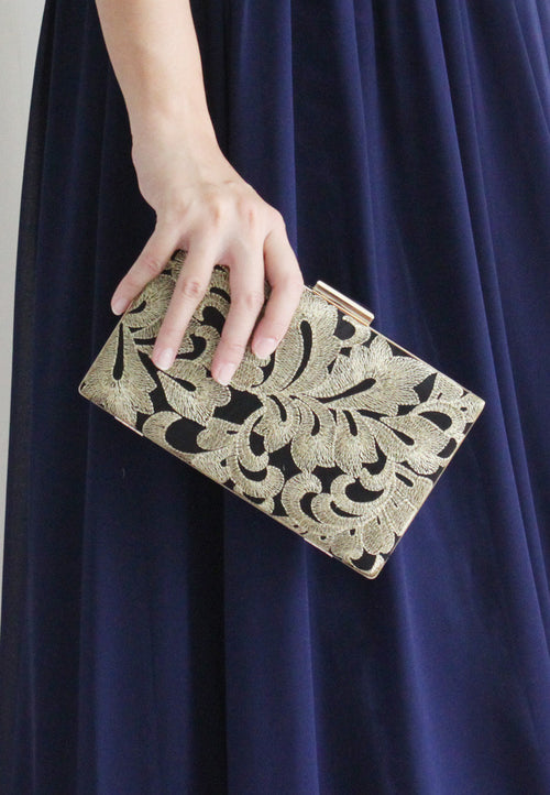 Vanecia Clutch - 2 Ways (Gold) - TUESDAY C.