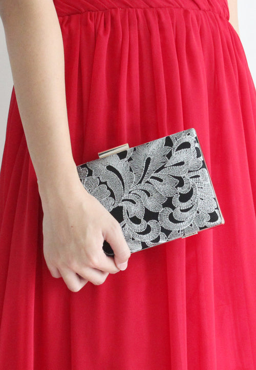 Vanecia Clutch - 2 Ways (Silver) - TUESDAY C.