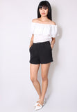 (30% OFF) CLAUDIA High Waisted Shorts (Black) - TUESDAY C.