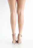 TC Elyssa Pointed Toe Ankle Strap Heels (Nude) - 35 to 41 - TUESDAY C.