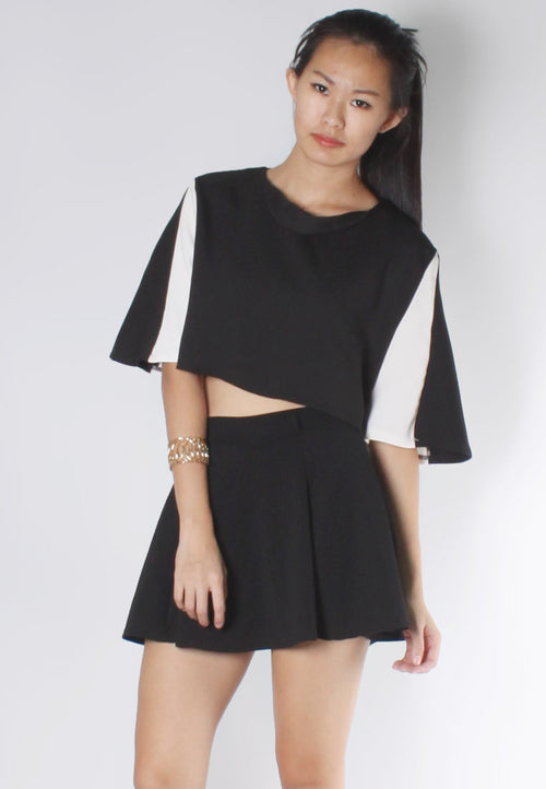 (50% OFF) ERICA Crop Top (Black) - TUESDAY C.