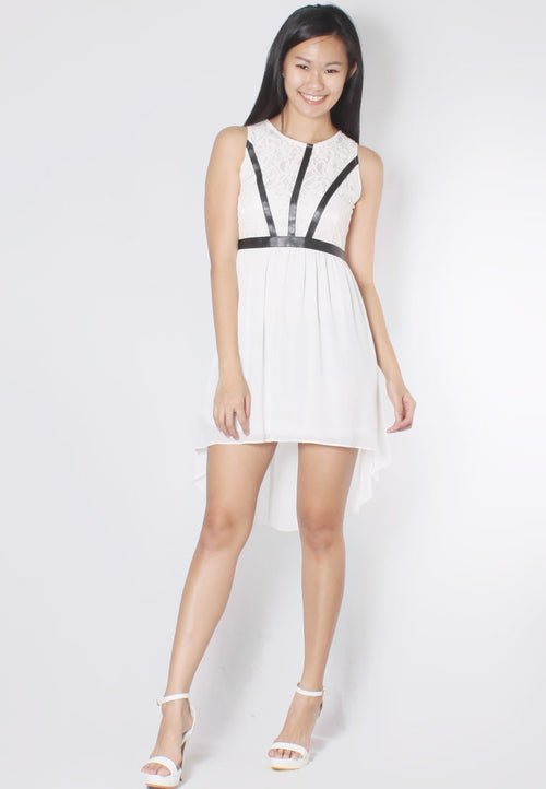 (50% OFF) EVELINA Asymmetrical Dress (White) - TUESDAY C.