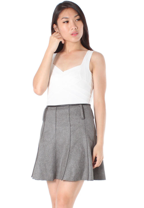 (30% OFF) Taylor Flounce Skirt (Grey) - Size S - TUESDAY C.
