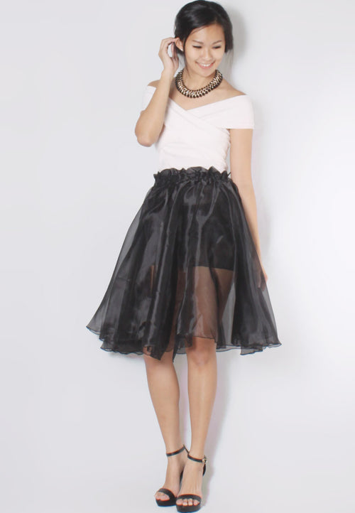 (50% OFF) GWEN Midi Flare Skirt - TUESDAY C.