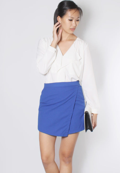 (30% OFF) JACQ Overlap Skorts (Cobalt Blue) - TUESDAY C.