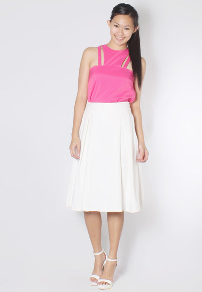 (50% OFF) JANELLE Cut-In Top (Hot Pink) - TUESDAY C.