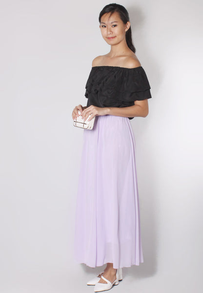 (30% OFF) JOVELLE Maxi Skirt (Lilac) - TUESDAY C.