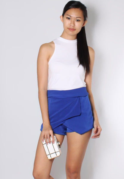 (50% OFF) KEIRA Origami Skorts (Cobalt Blue) - TUESDAY C.