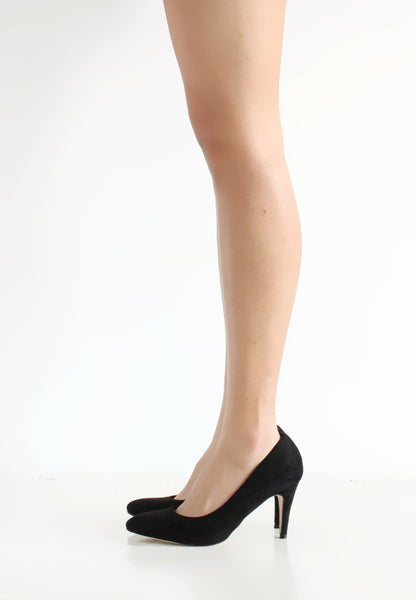 (20% OFF) TC Olivia Suede Pointed Toe Heels (Black) - 35 to 40 - TUESDAY C.