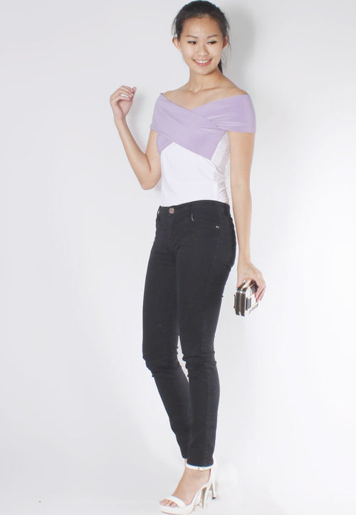 (50% OFF) MAIRA Off Shoulder Top (Lavender) - TUESDAY C.
