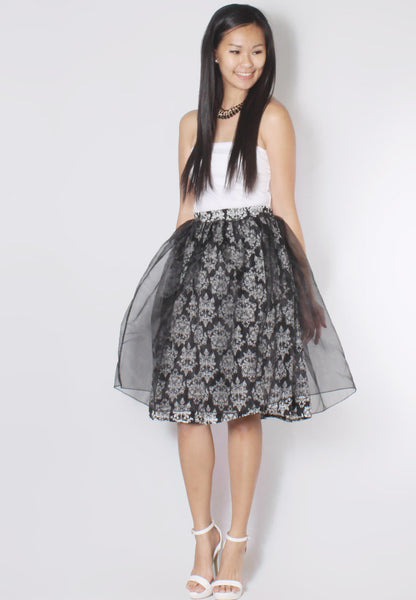(50% OFF) VENICE Midi Flare Skirt - TUESDAY C.