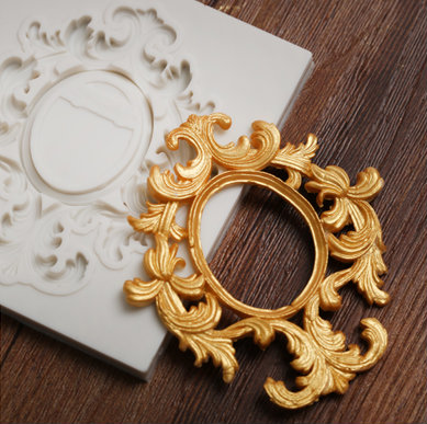 Ornate Oval Frame Silicone Mold