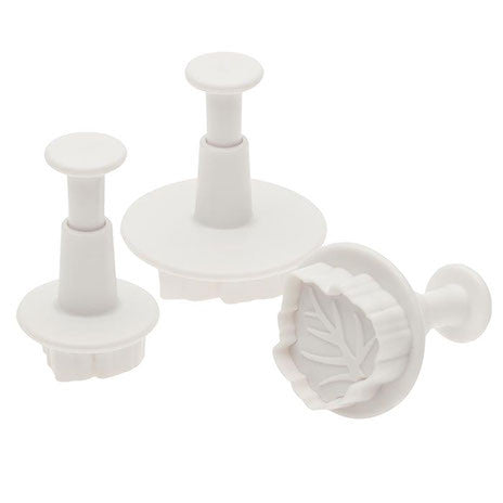3 Pc Rose Leaf Cutters - Miles Cake & Candy Supplies