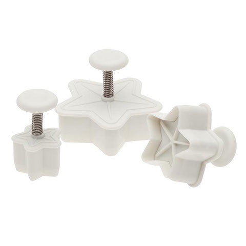 3 Pc Star Cutters - Miles Cake & Candy Supplies