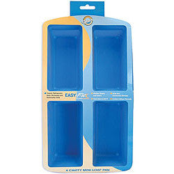4 Cavity Silicone Mini Loaf Pan