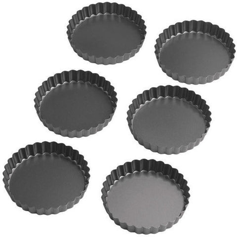 4 in. Round Tart/Quiche Pan Set - Miles Cake & Candy Supplies