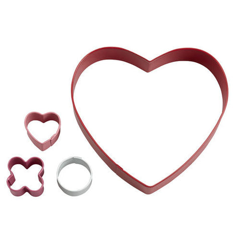 Kisses & Hugs Heart Cookie Cutter Set, 4-Pc. - Miles Cake & Candy Supplies