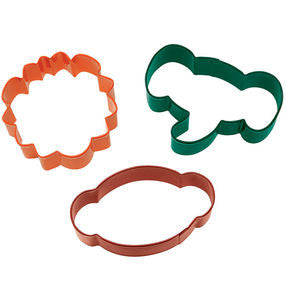 3 Pc Jungle Pals Cookie Cutter Set - Miles Cake & Candy Supplies