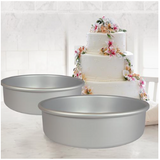 "Fat Daddio's Round Cake Pans- 2"" Tall - Miles Cake & Candy Supplies"