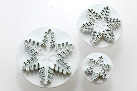 PME Snowflake Plunger Cutter Set of 3