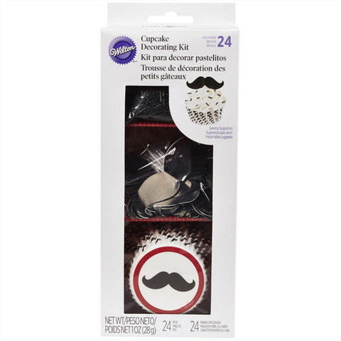Mustache Cupcake Decorating Kit - Miles Cake & Candy Supplies