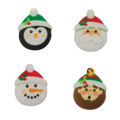 SugarSoft® Christmas Character Edible Decorations