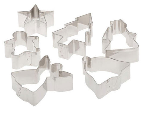 5 Piece Christmas Cookie Cutters - Miles Cake & Candy Supplies
