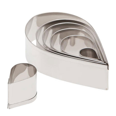 7 Piece Plain Teardrop Cutter Set - Miles Cake & Candy Supplies