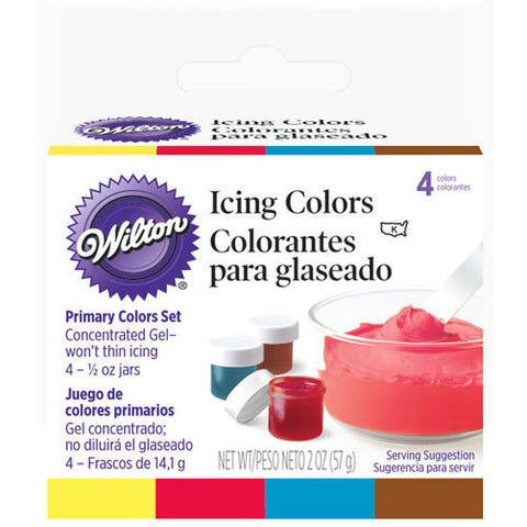Primary 4- Icing Colors Set - Miles Cake & Candy Supplies