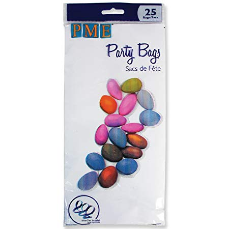 PME Party Bags with silver Ties pkg/25