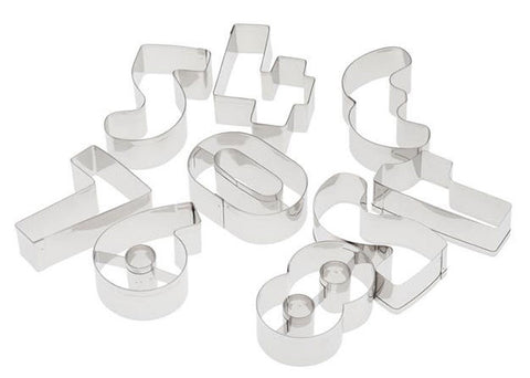 9 Piece Number Cutter Set - Miles Cake & Candy Supplies