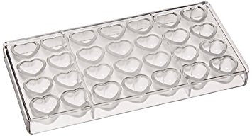 Dimpled Heart Polycarbonate Chocolate Mold