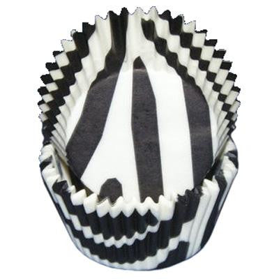 Zebra Black and White Baking Cups