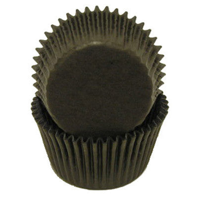 Black Glassine Mini Baking Cups