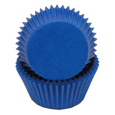 Blue Glassine  Baking Cups