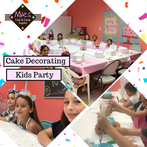 Kid's  Cake Decorating Birthday Party