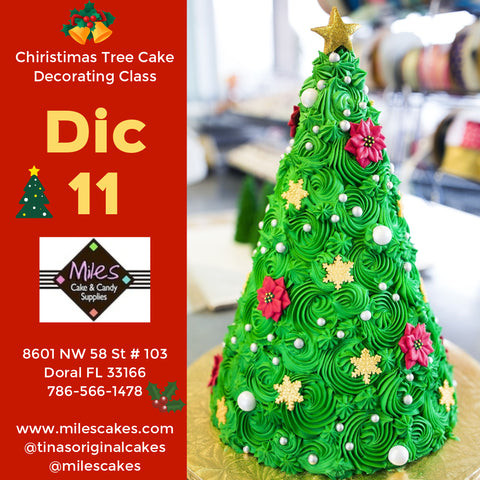 Christmas Tree Cake Decorating Class