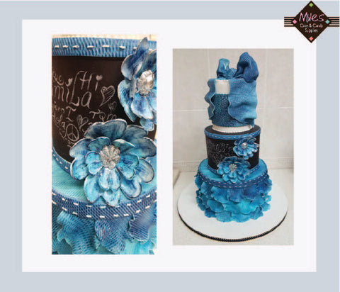 Denim Cake with Andres Enciso