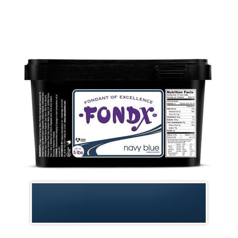 FondX Navy Blue Rolled Fondant