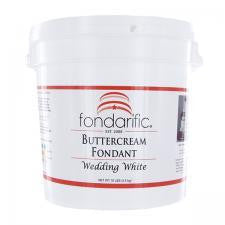 Fondarific Buttercream Wedding White Fondant, 10lbs