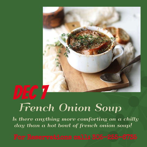 French Onion Soup Class