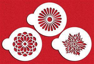Modern Flower Cookie Stencil