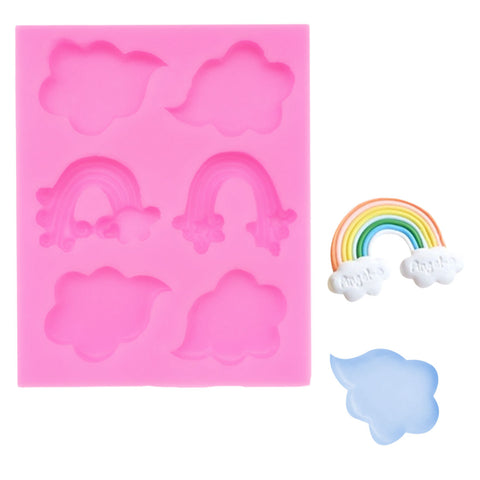 Rainbow/Clouds Silicone Mold