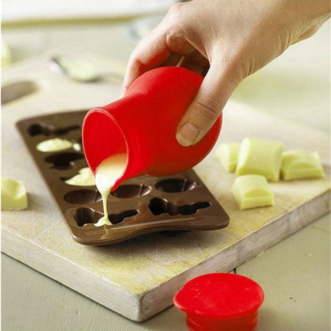 Kitchen Red Split-Up Pot Chocolate Melting Mould