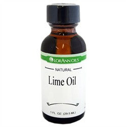 Lime Oil (Natural) Super Strength Flavor, 1 oz. - Miles Cake & Candy Supplies