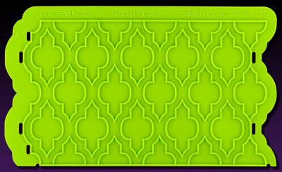 Moroccan Lattice Silicone Onlay® - Miles Cake & Candy Supplies