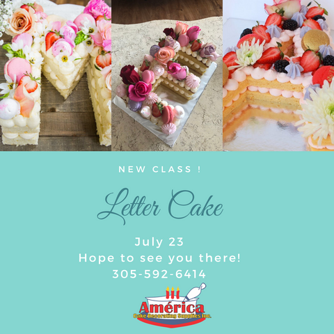 Letter Cake Class