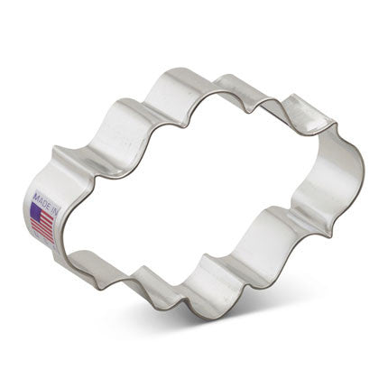 Oval Plaque Cookie Cutter - Miles Cake & Candy Supplies